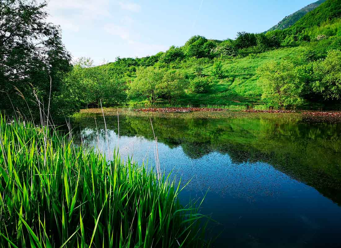 Монастырское озеро на г. Бештау.