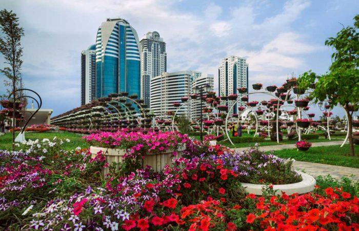 Цветочный парк, г. Грозный.