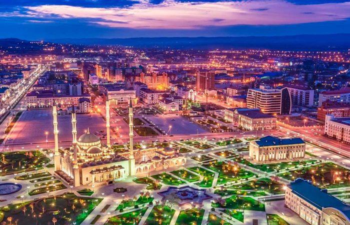 """Мечеть """"Сердце Чечни"""", г. Грозный."""