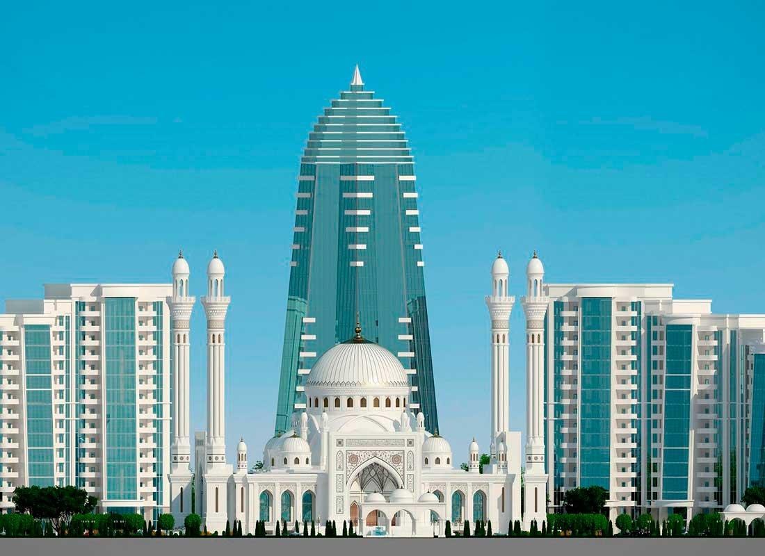 """Экскурсия """"Горная Чечня I"""". Мечеть """"Гордость мусульман"""" г. Шали."""