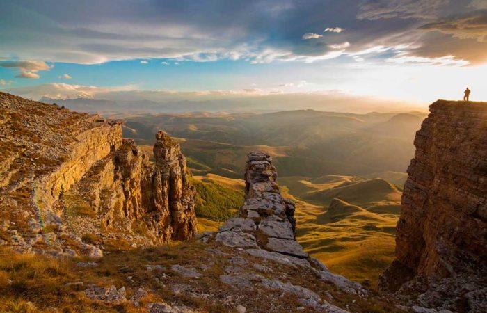 Закат на плато Бермамыт.