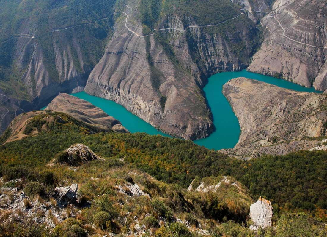 Сулакский каньон, Дагестан.