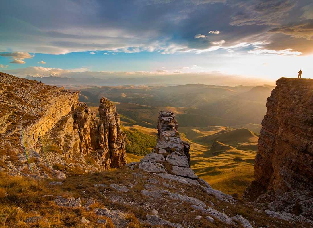 """Джип-тур """"Бермамыт"""". Закат на плато Бермамыт."""