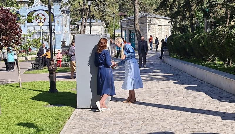 Съемки сериала, парк Цветник