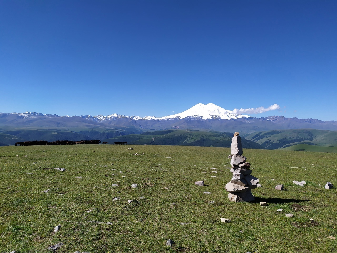 Вид с горы Харбас